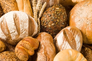 Full-frame picture of a variety of breads