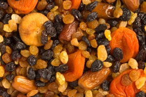 Close-up of various dried fruit